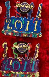 2 Hard Rock Cafe Pins Tulsa Staff New Years Eve 2011 Party Balloon Lot Guitar Le