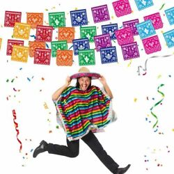 Fiesta Party Mexican Supplies Colorful Alpaca Cactus Cake Topper Banner Hanging