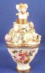Antique 18thc St. James Porcelain Snuff Box Perfume And Seal In One Porzellan Dose