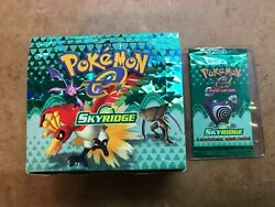 Wizards Of The Coast Pokemon Skyridge Booster Pack Poliwhirl W/ Booster Box