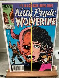 Kitty Pryde And Wolverine 2 Newstand 1 Cpv Rare 9.4 1984
