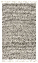 Jaipur Living Alpine Hand-knotted Stripe White/ Gray Area Rug 8and039x11and039
