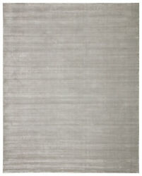 Jaipur Living Basis Handmade Solid Gray/ Silver Area Rug 12and039x15and039