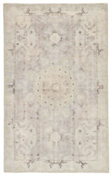 Jaipur Living Modify Hand-knotted Medallion Gray/ Blue Round Area Rug 8'x8'
