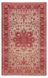 Jaipur Living Abington Hand-knotted Medallion Red/ Beige Area Rug 8and039x10and039