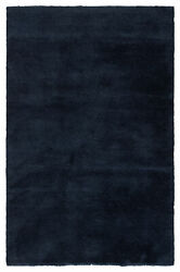 Jaipur Living Serra Hand-knotted Solid Blue Area Rug 6and039x9and039