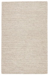 Jaipur Living Grams Handmade Solid Cream/ Light Gray Area Rug 9and039x12and039