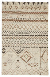 Jaipur Living Zamunda Hand-knotted Geometric Cream/ Brown Area Rug 9and039x12and039