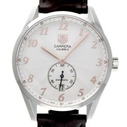 Auth Tag Heuer Watch Carrera Heritage Calibre 6 Was2112.fc6181 Ss Case 39mm F/s
