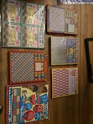 Lot Of 7 Rare Vintage Old Rare Punch Boards Punchboard Gaming Amazing