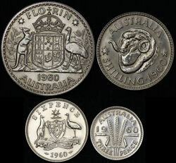 1960 Melbourne 4 Coin Silver Proof Set