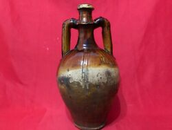Antique Misr Glazed Ceramic Pottery Jug Misr Comes From Arabic And Refers Egypt