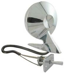 Outside Rear-view Mirror Assembly - Round Head - Remote Control - Chrome - Left