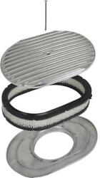 Polished Aluminum 12 Oval Finner Engine Air Cleaner 41-74170-1