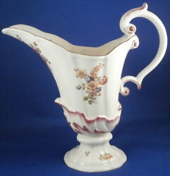 Antique 18thc Chelsea Porcelain Soft Paste Large Ewer Red Anchor Period England