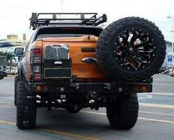 Rear Bar For Ford Ranger Px 11 With Single Wheel Carrier Dual And Jerry Can Holder