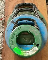 Steel Fish Tape, Greenlee Magnum Pro, Greenlee 438-5 And Ideal Lot Of 3
