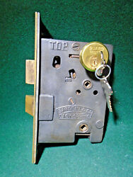 Sargent 961 Entry Mortise Lock W/cylinder And Keys 7 3/4 Face 15330