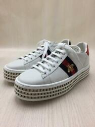 Crystal With  36.5 ◆ Size 36.5 White Sneakers 1606 From Japan