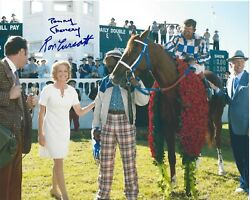 Penny Chenery Ron Turcotte Signed 8.5 X 11 Photo Signed Reprint Secretariat