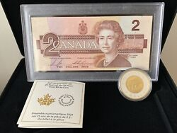 2021 Numismatic Coin And Bank Note - 25 Years Of The 2 Piece From Bill To Coin