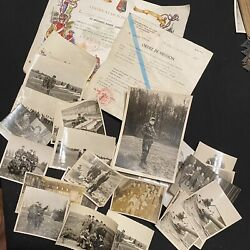 French Colonial Paratrooper Photo And Diploma Grouping Algerian War 47/56