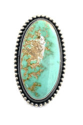 Native American Sterling Silver Navajo Handmade Royston Turquoise Ring Sz 9