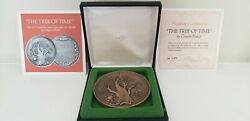 1973 The Franklin Mint Tree Of Time 76 Mm Bronze Medal By Clayton Baker / N131