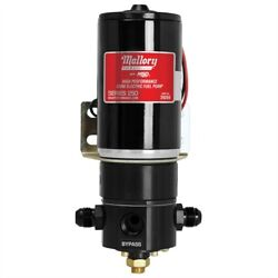 Mallory 29269 Racing Electric Fuel Pump 250 Gph Gasoline 3/4 -16 8an Bypass 1/4