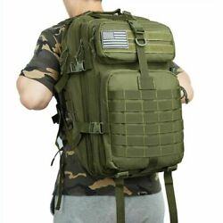 Men Army Bags Solid Water Resistant Zipper Pocket Military Tactical Backpacks