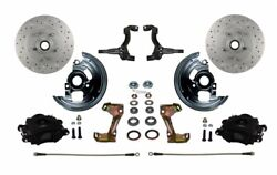 Leed Brakes Bfc1007m1a1x Front Disc Brake Kit W/2 In. Drop Spindles Gm A/f/x-bod