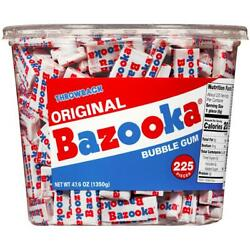 Bazooka Bubble Gum Individually Wrapped Pink Chewing Gum In Original Flavor - 22