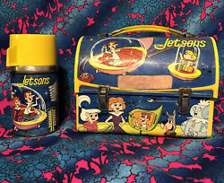 The Jetsons Lunch Box And Thermos 1963 Aladdin Metal Vintage