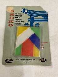 E.s. Lowe Toys Sheko An Ancient Art Of Forming Shapes And Designs Vintage Game