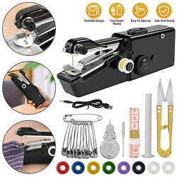 Mini Diy Portable Sewing Machine Tailor Stitch Hand-held Home Travel Cordless Us