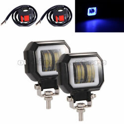 2pcs 20w Led Auxiliary Motorcycle Headlight Car Offroad Suv Driving Fog Light