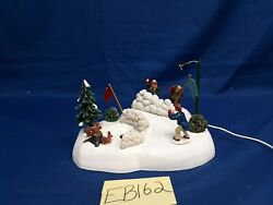 Lemax Village Collection Snowball Fight 84841 As-is Eb162