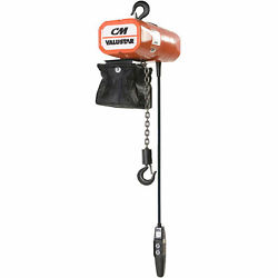 Cm Valuestar 1000 Lb. Capacity Electric Chain Hoist With Chain Container