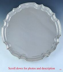 Vintage English Georgian Style Sterling Silver Footed Tray/platter 12