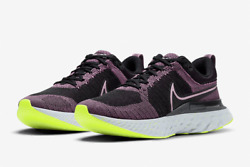 Nike Womenand039s React Infinity 2 Running Shoes Violet Dust Black Ct2423-500 New