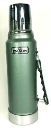 Vintage Stanley Aladdin Thermos 1 Quart A-944 Dh Green 1996 Collectible