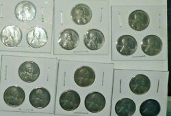 [6] 3 Coin Holders Sets 1943 Pds Steel War Penny- Wwii =18 Cents 43