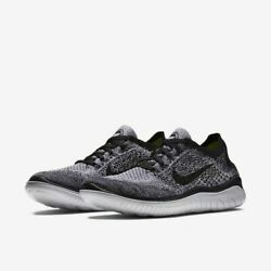 Nike Womenand039s Free Rn Flyknit 2018 Running Shoes Black White 942839-101 New