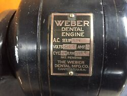 1950andrsquos Vintage Weber Dental Engine With Arm And Doriot Hand Piece.