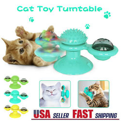 New Windmill Cat Toys Fidget Spinner for Kitten with LED and Catnip Ball USA