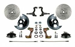 Leed Brakes Fc1003-lbb2x Front Disc Brake Kit W/2 In. Drop Spindles Gm A/f/x-bod