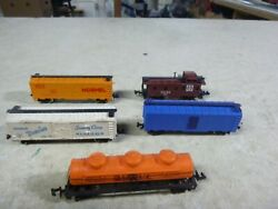 14 N Scale Freight Cars-  Trix Lot Of 5