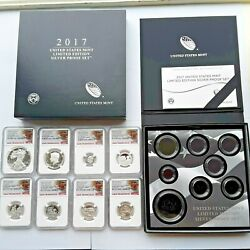 2017 Official U.s. Mint Limited Edition Silver Proof Set. W/2017 S Silver Eagle