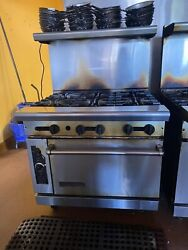 American Range Ar-bc 6 Burner With Convection Oven