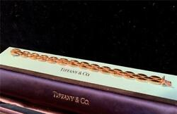 And Co. Vintage 585 14k Yellow Gold 3 Row Panther Link Bracelet W/ Box